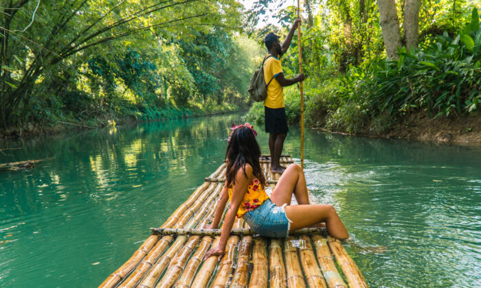 Rafting down the Martha Brae River in northern Jamaica. (Jam Travels/Shutterstock)