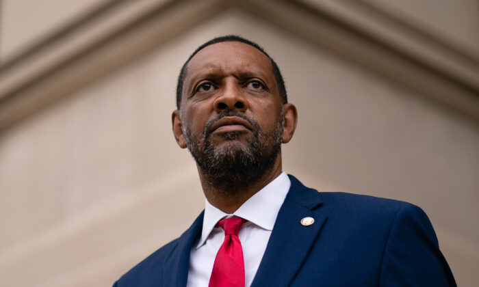 Georgia state Rep. Vernon Jones poses for a portrait at the Georgia State Capitol, in Atlanta, Ga., on Oct. 25, 2020. (Elijah Nouvelage/AFP via Getty Images)