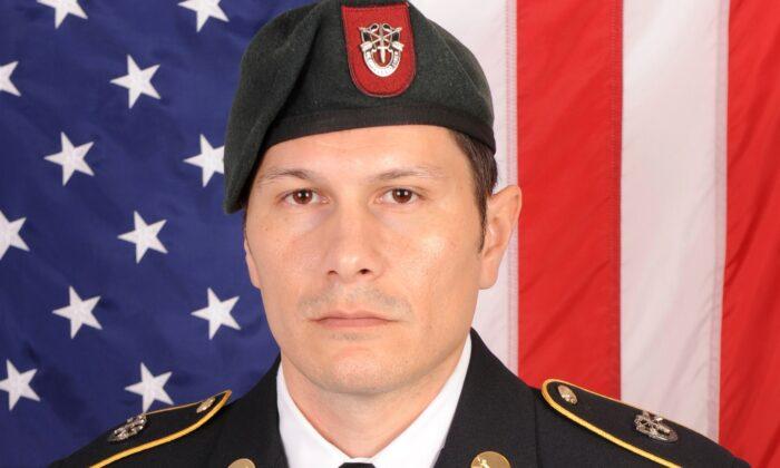 Sgt. 1st Class Duke Webb in a file photo on Dec. 13, 2019. (Courtesy U.S. Army via AP)