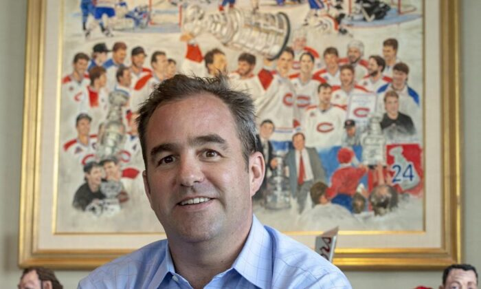 Montreal Canadiens owner Geoff Molson is seen in his office at the Bell Centre in Montreal on Tuesday, June 11, 2019. (The Canadian Press/Ryan Remiorz)