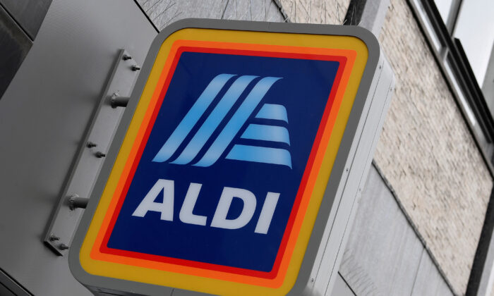 Signage is seen at a branch of Aldi Local in London, Britain, June 17, 2020. (Toby Melville/Reuters/)