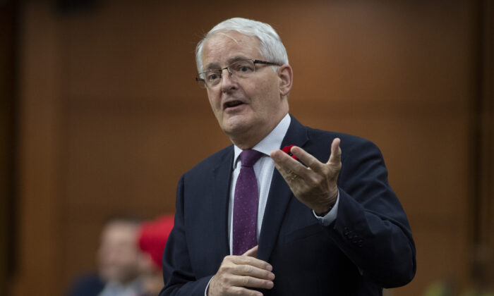 Minister of Transport Marc Garneau responds to a question during Question Period in the House of Commons in Ottawa, Tuesday, Nov. 3, 2020. (Adrian Wyld/The Canadian Press)