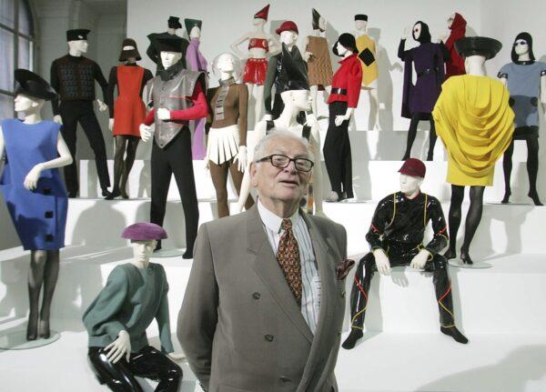 French fashion designer Pierre Cardin