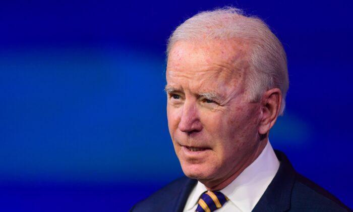 Democratic presidential nominee Joe Biden speaks in Wilmington, Del., on Dec. 28, 2020. (Jonathan Ernst/Reuters)