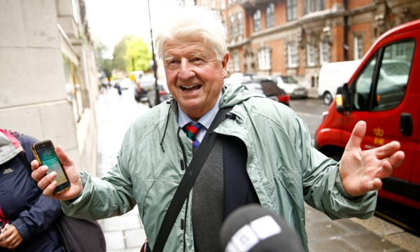 Stanley Johnson, father of Britain's Prime Minister Boris Johnson