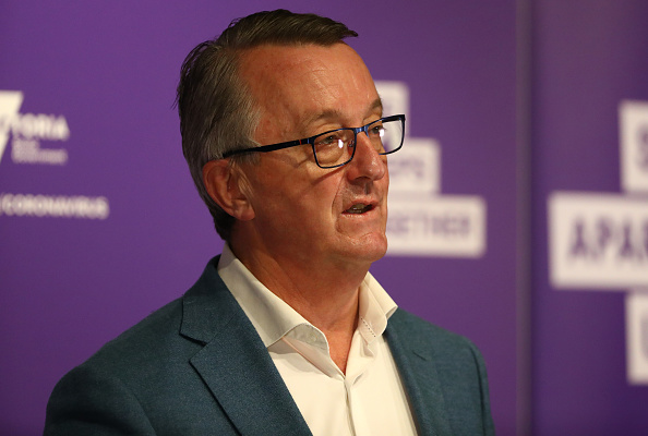 Health Minister Martin Foley during a press conference in Melbourne, Australia on Sept. 23, 2020. (Robert Cianflone/Getty Images)