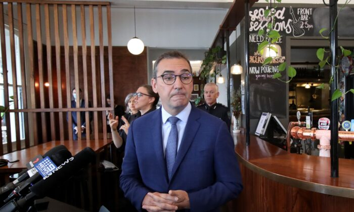 South Australian Premier Steven Marshall  at the Stag Hotel in Adelaide, Australia on Dec.1, 2020. (Kelly Barnes/Getty Images)
