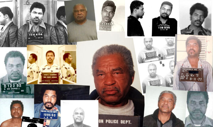 In this handout photo provided by the Federal Bureau of Investigation, serial killer Samuel Little is seen in a composite image depicting multiple mug shots/booking photos from 1966-1995. Little, who is currently serving a life sentence, has confessed to 93 murders in 19 states over 35 years. The FBI has verified 50 of these cases so far, making Little the most prolific serial killer in U.S. history. (The FBI via Getty Images)
