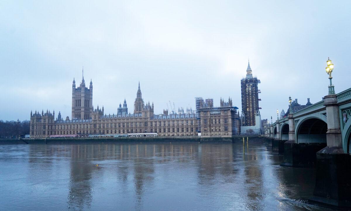 UK Parliament building Westminster