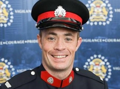 Sgt. Andrew Harnett, 37, of the Calgary Police Service is shown int his undated handout image provided by the police service. (The Canadian Press/HO-Calgary Police Service)