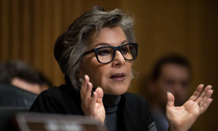 Sen. Barbara Boxer (D-Calif.) speaks in Washington on May 26, 2016. (Drew Angerer/Getty Images)