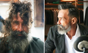 Barber Gives Homeless Man a Complete Makeover, His New Look Reunites Him With Family