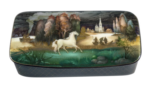 acquer box with landscape