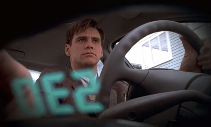 "Jim Carrey is Truman Burbank in ""The Truman Show."" (Paramount Pictures)"