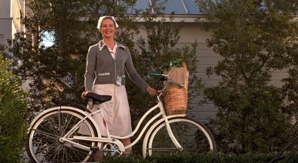 nurse with bike