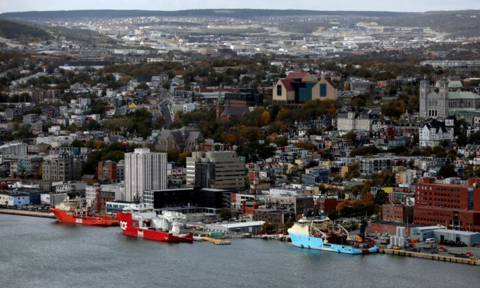 Ships are seen docked in the St. John's Harbour in St John's, Newfoundland and Labrador, Canada, on Oct. 17, 2018. (Reuters/Chris Wattie)
