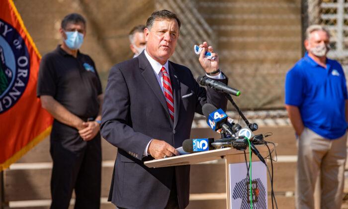 Orange County Supervisor Don Wagner on Oct. 19, 2020. (John Fredricks/The Epoch Times)