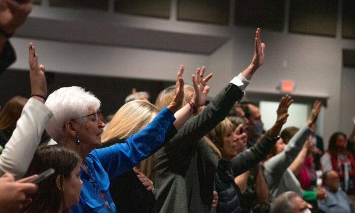 Vice President Mike Pence visits Rock Springs Church, in Milner, Ga., on Jan. 4, 2021. (Megan Varner/Getty Images)