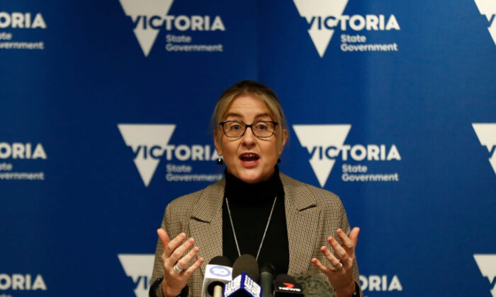 Victorian Minister for Transport Infrastructure, Jacinta Allan speaks to the media on June 23, 2020 in Melbourne, Australia. (Darrian Traynor/Getty Images)