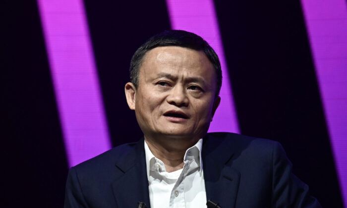 Jack Ma, CEO of Alibaba, speaks during his visit at the Vivatech startups and innovation fair in Paris, on May 16, 2019. (Philippe Lopez/AFP via Getty Images)