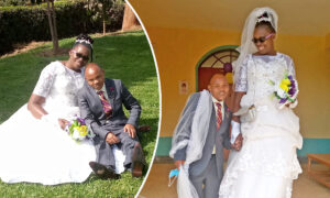 Blissful Bride Who Towers Over Her Husband Silences Critics: 'Love Knows No Boundaries'