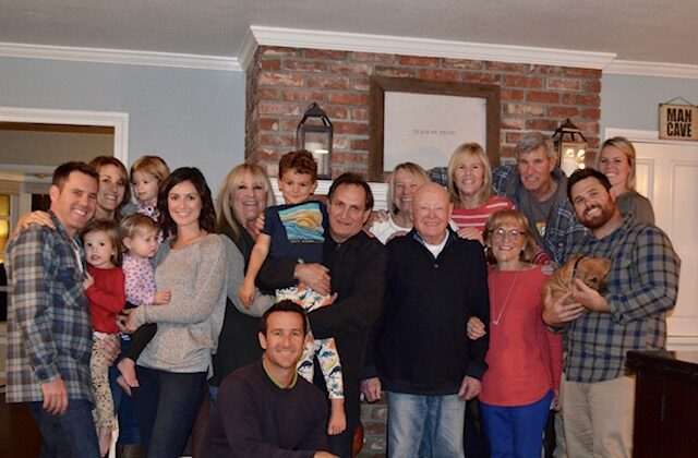 The author's family at Christmastime. (Courtesy of Leslee Owens)