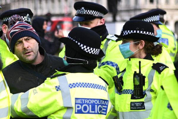 London covid protestyer