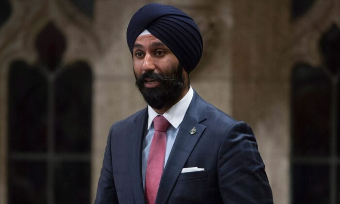 Liberal MP Raj Grewal rises in the House of Commons in Ottawa on June 3, 2016. (The Canadian Press/Adrian Wyld)