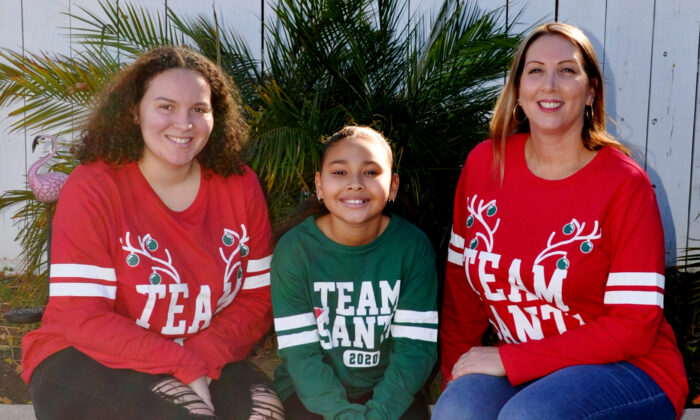 Property manager Crystal Lawless (R) and her two daughters in Rancho Cucamonga, Calif. (Courtesy of Crystal Lawless)