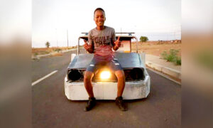 South African Teen Is Too Poor to Buy a Car, so He Builds His Own Car Using Scrap Metal