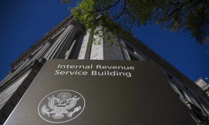 The Internal Revenue Service (IRS) building stands in Washington on April 15, 2019. (Zach Gibson/Getty Images)