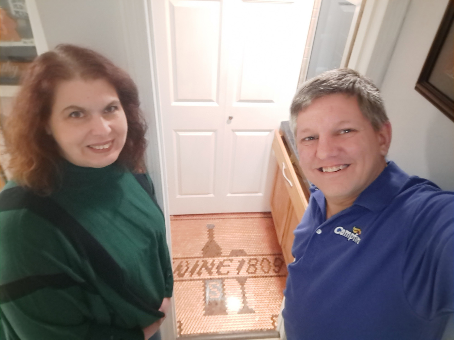 Crafty Husband Surprises Wife by Covering Wine Cellar Floor With Almost 3,000 Pennies