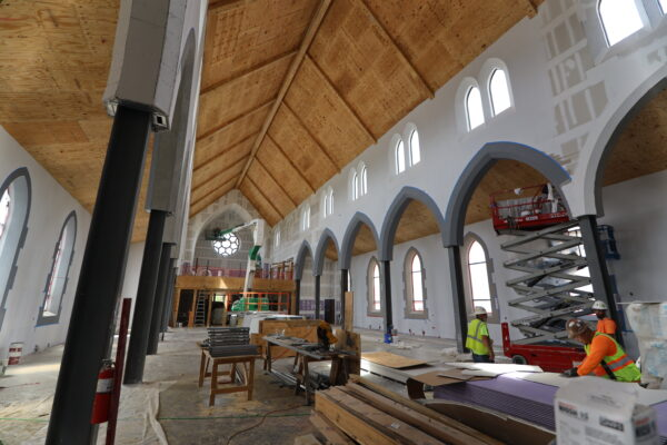work done in the interior of Christ the King Chapel