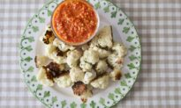 Roasted Cauliflower With Romesco