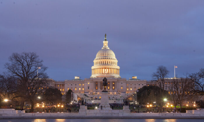 The U.S. Capitol in Washington is seen on the evening of Jan. 6, 2021. (JHSmith-Cartio)