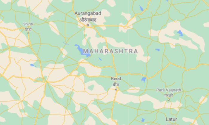 Ten newborns were killed on Saturday in a massive fire at a hospital in Maharashtra, India, on Jan. 9, 2021. (Screenshot of Google Map)