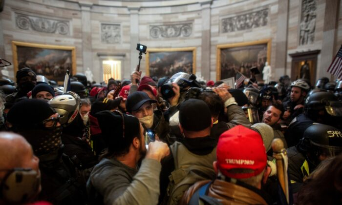 Protesters storm the Capitol building in Washington on Jan. 6, 2021. (Ahmed Gaber/Reuters)
