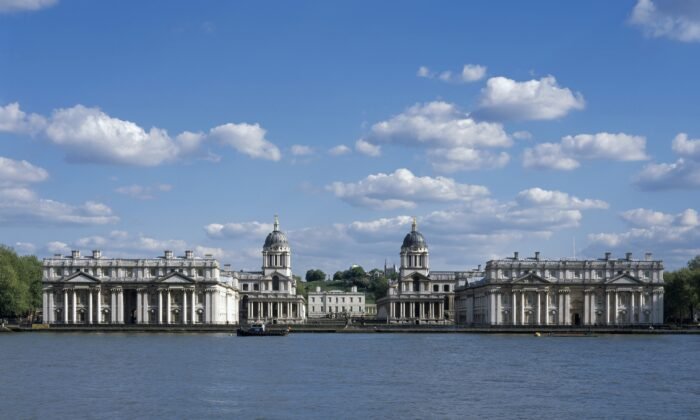 The Italian painter Canaletto famously painted this view of the Old Royal Naval College in Greenwich, London. (Old Royal Naval College)