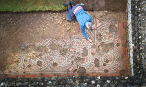 Archeologists Uncover the First Known Dark Age Roman Mosaic Crafted in Britain