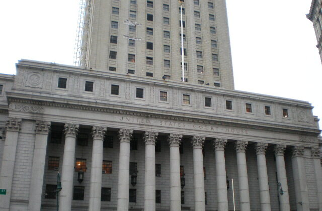 Thurgood Marshall U.S. Courthouse in Manhattan, New York City on April 4, 2008. (Sheila of Commons: Wikipedia Takes Manhattan Project/CC BY-SA 3.0)