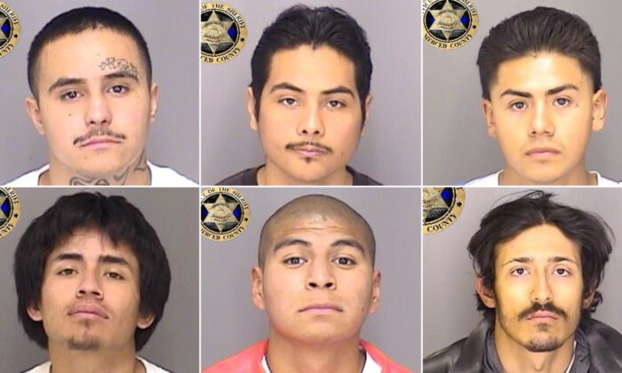 Hispanic fugitives who escaped from Merced County Downtown Jail in California on Jan. 10, 2021. (Courtesy of Merced County Sheriff's Office)