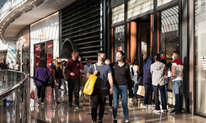 People shop during the Boxing Day sales at Chadstone the Fashion Capital on December 26, 2020 in Melbourne, Australia.  (Naomi Rahim/Getty Images)