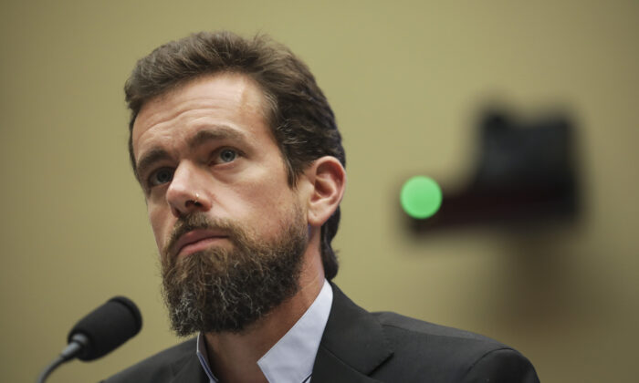 Twitter CEO Jack Dorsey testifies to Congress in Washington on Sept. 5, 2018. (Drew Angerer/Getty Images)