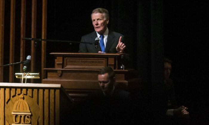 Illinois House Speaker Mike Madigan speaks in Springfield, Ill., on Jan. 9, 2019. (Justin L. Fowler/The State Journal-Register via AP)