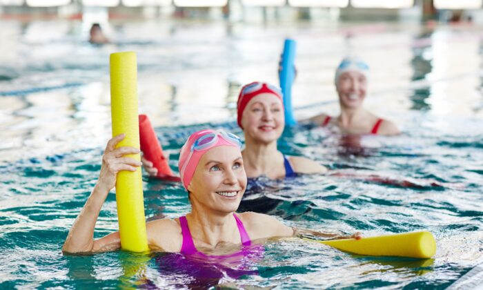 Water exercises are easy on the bones and joints.(Pressmaster/Shutterstock)