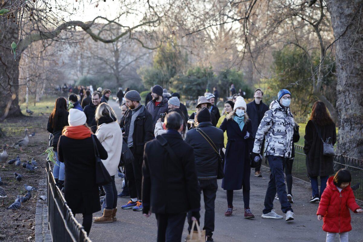 People in park London