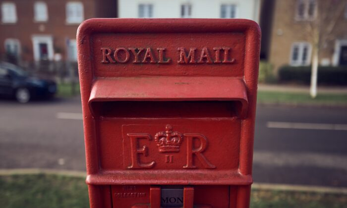 A general view of a Royal Mail postbox in Essex, England, on Dec. 6, 2020. (Gareth Cattermole/Getty Images)