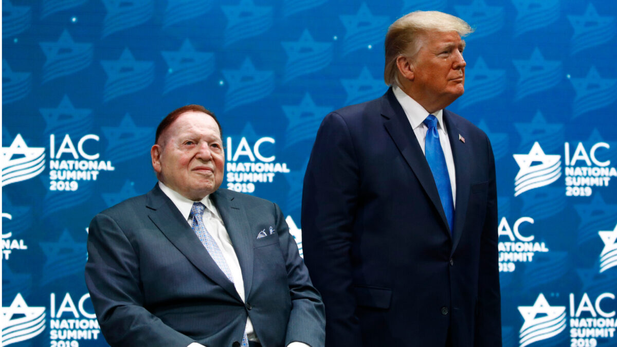 President Trump and Sheldon Adelson
