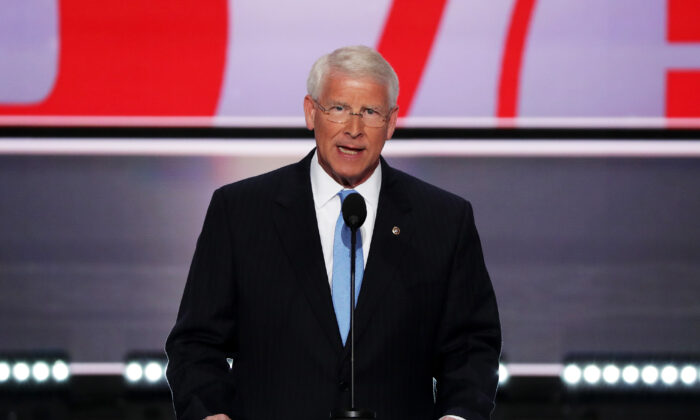 Sen. Roger Wicker (R-Miss.) speaks in Cleveland, Ohio, in a 2016 file photograph. (Alex Wong/Getty Images)
