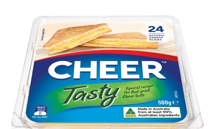 "Saputo Dairy Australia announces new name for COON Cheese products. CHEER™ Cheese celebrates the ""extra little bit of happiness"" found in your every day. (Saputo)"